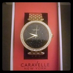 Caravelle gold watch